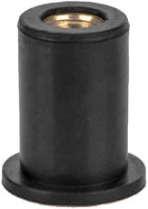 Заклепка резьбовая неопреновая с плоским бортом M3 L12,6
