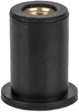 Заклепка резьбовая неопреновая с плоским бортом М6 L26,7