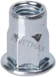 Заклепка резьбовая  полушестигранная с плоским бортом М8 L18,0