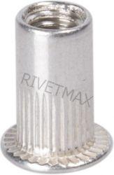 Заклепка резьбовая с плоским бортом М4 L11,0 алюминиевая