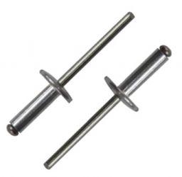 Заклепка вытяжная AL/ST 4,8X12X16 с широким бортом