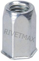 Заклепка резьбовая шестигранная с уменьшенным бортом М6 L18,0